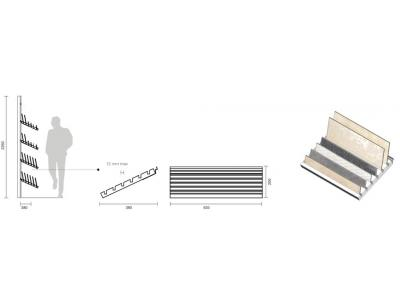 MOD. SP TOP/6 - N.6 GUIDE PORTAPEZZI SFUSI/ N.6 GUIDES FOR LOOSE PIECES
