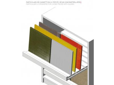 """PARTICOLARE CASSETTI """"SC"""" PER PZ. SFUSI /PARTICULAR SC DRAWERS FOR LOOSE PIECES WITH GUIDES"""